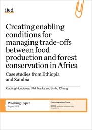Creating enabling conditions for managing trade-offs between food production and forest conservation in Africa. Case studies from Ethiopia and Zambia