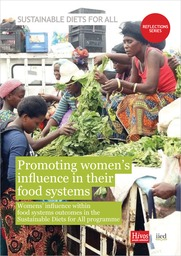 Promoting women's influence in their food systems. Women's influence within food systems outcomes in the Sustainable Diets for All programme