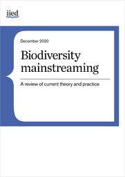 Biodiversity mainstreaming: A review of current theory and practice