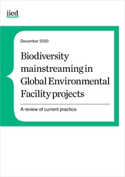 Biodiversity mainstreaming in Global Environment Facility projects: A review of current practice