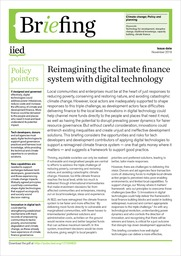 Reimagining the climate finance system with digital technology