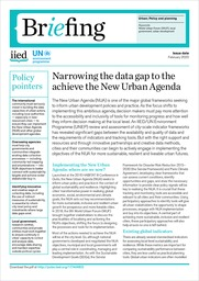 Narrowing the data gap to the achieve the New Urban Agenda
