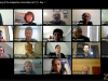 Screenshot of a video call with 25 participants
