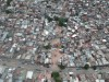 Aerial view of a slum.