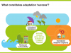 This graphic shows how securing well-being in the face of climate change involves reducing vulnerability, increasing resilience and increasing adaptive capacity
