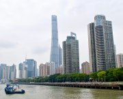 A view of Shanghai's tall buildings