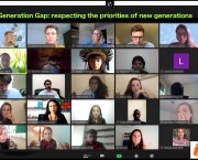 Screenshot of a video call with 25 participants.