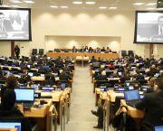Brazil ambassador Carlos Sobral Duarte addresses a meeting to define the key elements of a draft treaty to govern the high seas (Photo: IISD/ENB | Franz Dejon)