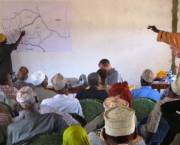 Somali and Boran pastoralists came together to discuss ways to share water resources at a meeting this month. (Credit: James Pattison)