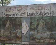 A sign near Kathmandu, Nepal, warns of the dangers of landslides (Photo: Doug Letterman, via Creative Commons http://creativecommons.org/licenses/by/2.0/)