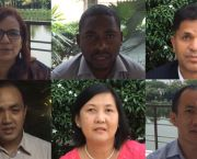 Six representatives of developing country governments – Bangladesh, Bhutan, Myanmar, Mozambique, Nepal and the Philippines – shared their experiences of rolling out the sustainable development agenda at the 21st Poverty Environment Partnership meeting (Image: IIED)