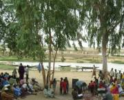 People from Kandadji village, which is due to be flooded, meet to discuss resettlement plans.