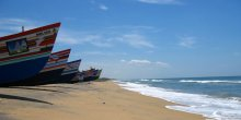 Fishing boats on the Bay of Bengal