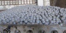 A heap of steel balls in a lorry