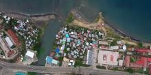 Aerial view of Honiara, Solomon Islands