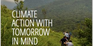 The front cover of  the book 'Climate Action with Tomorrow in Mind: Expert Perspectives on Long-term Climate and Development Strategies'