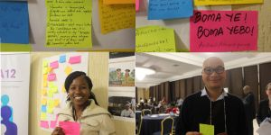 At CBA12 participants talked about the different ways their cultures create inclusive spaces to reach consensus-based decisions (Photo: Teresa Corcoran/IIED)