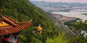 Aerial view of Kunming, Yunnan Province, China