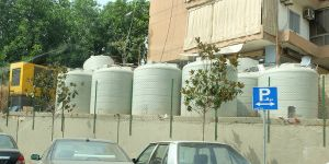 With water shortages in Lebanon, many households have water storage facilities
