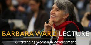 Urban climate action champion Debra Roberts gave the 2016 Barbara Ward Lecture (Image: IIED)