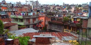 A settlement in Chabahil, an ancient town near Kathmandu in Nepal. Many countries use different definitions or 'urban' (Photo: Gordon McGranahan/IIED)