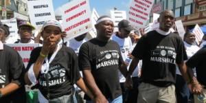 Shack dwellers from the eThekwini municipality protesting in Durban (Photo: Slum/Shack Dwellers International)