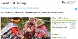 Biocultural heritage screenshot