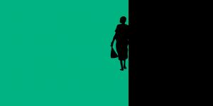 Icon of two figures walking away