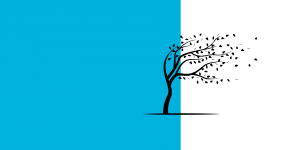 Icon of a tree in the wind