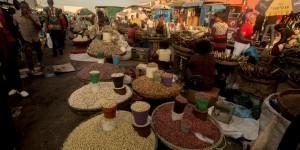 Food market in Lusaka, Zambia.