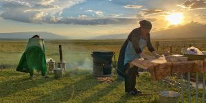 The experiences of mountain communities in Kyrgyzstan were shared at a learning exchange (Photo: Alan Zulch)