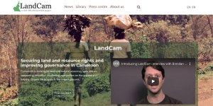 Screenshot of LandCam website