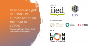 Logo for London climate action week event