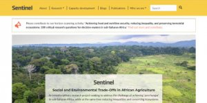 Screenshot of sentinel website