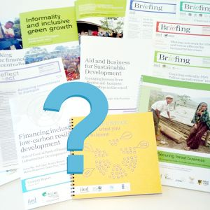 We undertook a survey to discover how our audience used our publications (Image: IIED)