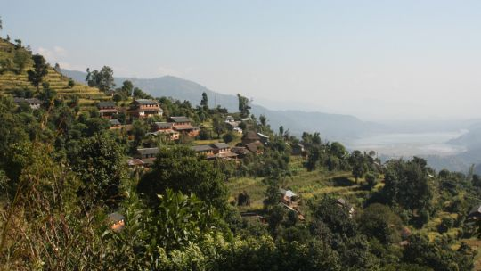 View of Harpan village of Panchase – the upstream of Phewa Lake (Photo: Amit Poudyal/IUCN)