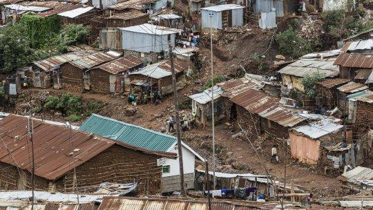 A road in Kibera informal settlement