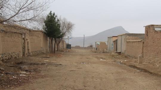 An empty street in Barikab, Kabul, Afghanistan