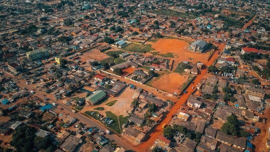 Aerial view of Accra, Ghana.