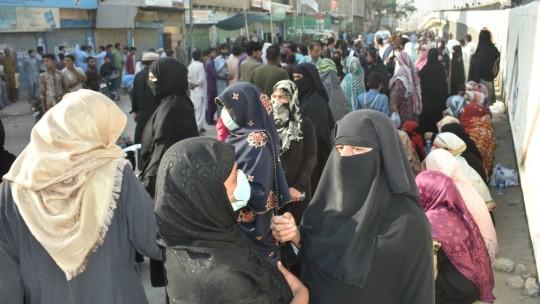 Women demonstrating