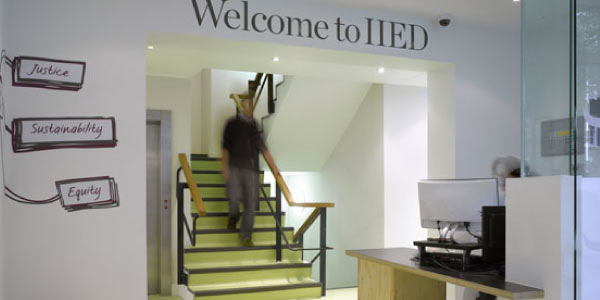 IIED London office reception